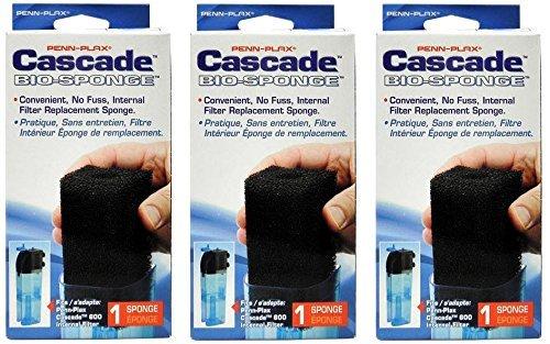- Penn Plax Cascade 600 Internal Filter Replacement Cartridges (3-Pack Bio Foam)