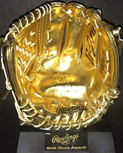 Jose Ramirez Indians Autographed Signed Mini Gold Glove WITNESS COA A JSA Certified Autographed MLB Gloves