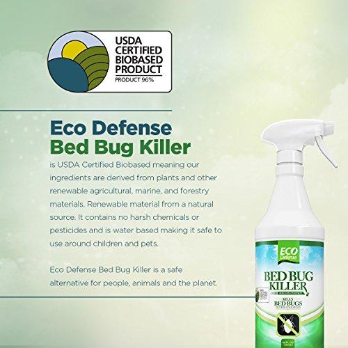 Eco Defense Bed Bug Killer Natural Organic Formula Fastest