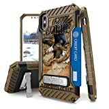 Iphone X Case, Trishield Durable Shockproof High Impact Rugged Armor Phone Cover With Detachable Lanyard Loop Card Slot Built In Kickstand For Iphone X - 2Nd Amendment Eagle