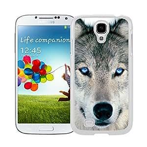 Designer White S4 Case Wolf Samsung Galaxy S4 I9500 Case White Cover
