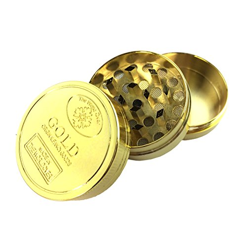 Small Gold original fancy goods grinder (1.5 wide,,1in tall)