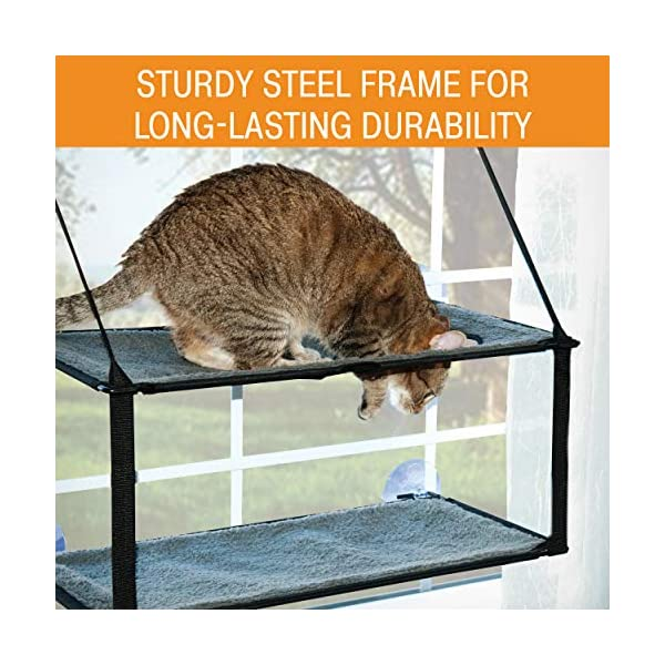 K&H Pet Products EZ Window Mount Kitty Sill - Single Level or Double Stack 2