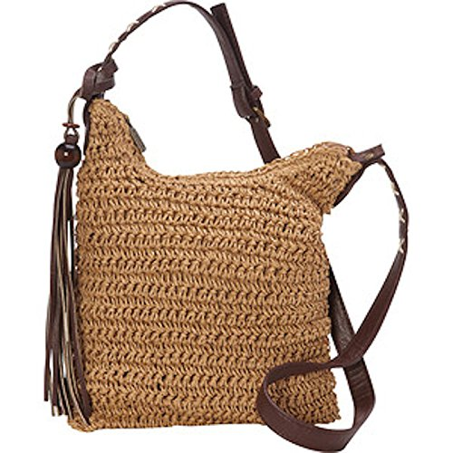 Sun N' Sand Nina Natural Crochet Mini Crossbody Bag 5940 (B. Toast)