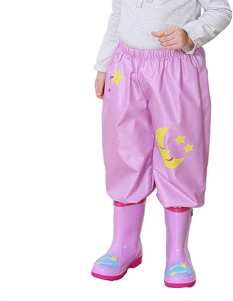 Smiling Angel Rain Pants for Kids Waterproof 2~10 Years Boys and Girls