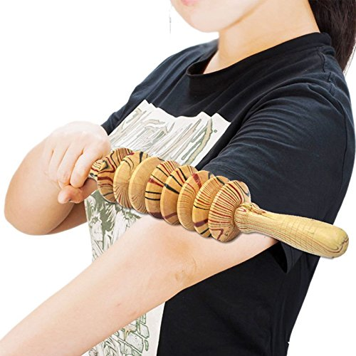 Wall of Dragon Wooden Exercise Roller Sport Injury Gym Body Back Leg Trigger Point Muscle Roller Sticks Massager Health Care by Wall of Dragon (Image #3)
