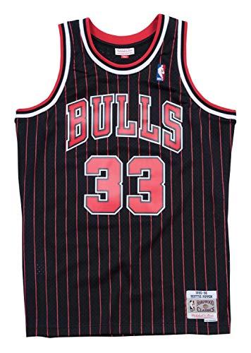 (Mitchell & Ness Scottie Pippen Chicago Bulls Alternate '95-'96 Swingman Jersey Black)