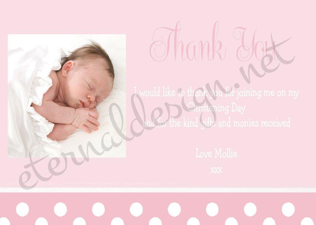 caliente Tarjetas de agradecimiento personalizadas con con con diseño Eternal para bautizo CDTY 5  Venta barata