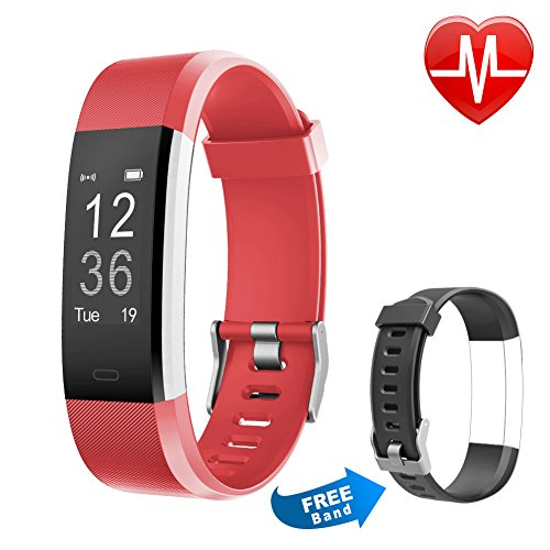 Fitness Tracker Hr  Letsfit Activity Tracker Heart Monitor Watch  Ip67 Waterproof Smart Band As Step Counter Pedometer Watch With Replacement Band For Kids Boys Girls Women Men