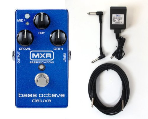 Jim Dunlop M288 Bass Octave Pedal Deluxe + Power adapter and (Octave Bass Effects)