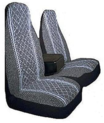 Allison 67-1917GRY Gray Diamond Back 60/40 Split Truck Seat Cover (Pack of 2)