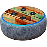 MightySkins Skin for Amazon Echo Dot (3rd Gen) - Abstract Wood | Protective, Durable, and Unique Vinyl Decal wrap Cover | Easy to Apply, Remove, and Change Styles | Made in The USA