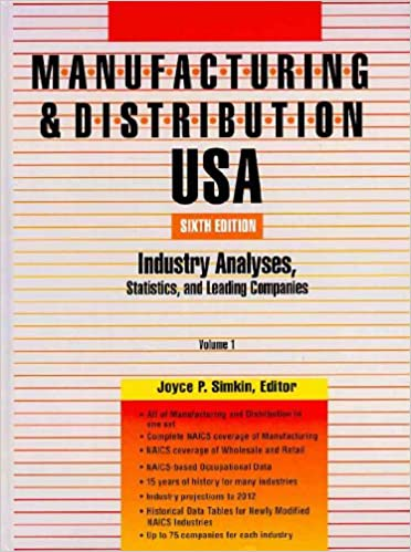 Manufacturing & Distribution USA: Industry Analyses, Statistics and