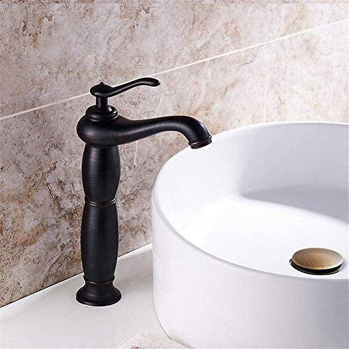 Honana 蛇口, キッチンミキサー浴室キッチン洗面蛇口ホット冷たい水で防水漏れ防止録音全水彩銅アンティークシンク キッチン蛇口 混合水栓
