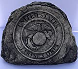 Marine Service Stone Memorial Handmade in USA made of cast stone concrete great for indoor or outdoor 3 color options available (Weathered) Review