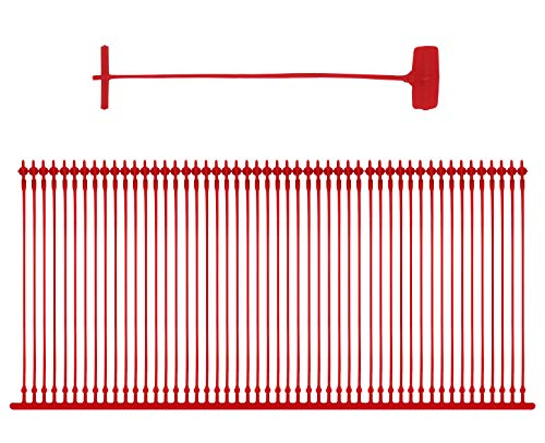Amram 3 Inch Standard Tagging Attachments, 5,000 Pieces, 50 Per Clip- Red