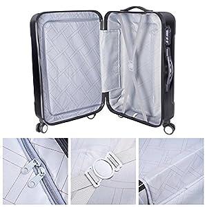 "GC Global Direct 3Pcs Luggage Travel Set Bag ABS+PC 4 Wheels Trolley Suitcase Code Lock 20""/24""/28"" (Black)"