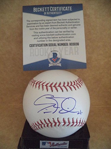 ERIC FILIA SEATTLE MARINERS ROOKIE YEAR SIGNED ML BASEBALL BECKETT R03039