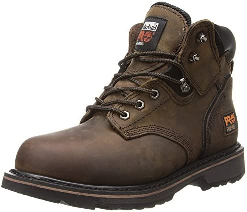 "Timberland PRO Men's 6"" Pitboss Steel-Toe Boot Shoes"