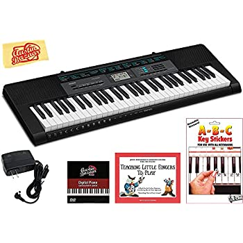 Casio CTK-2550 Portable Keyboard Bundle with Power Supply, Removeable Stickers, Instructional Book, Austin Bazaar Instructional DVD, and Polishing Cloth