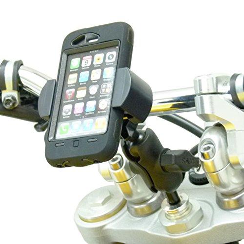 BuyBits 17.5mm - 20.5mm Motorcycle Fork Stem Yoke Mount with RoadVise Smartphone Mobile Phone Holder
