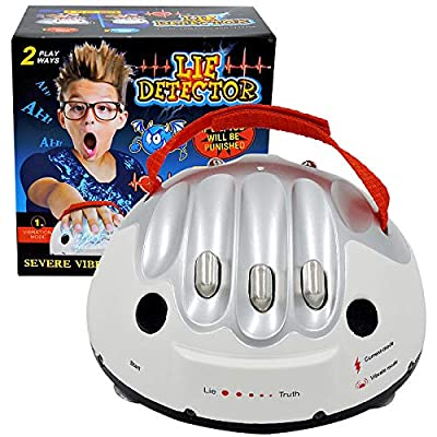 BRXY Upgrade Micro Electric Shocking Lie Detector, Tricky Novelty Game Interesting Polygraph Test Truth Or Dare Game for Party Analyzer Consoles Gifts: Toys & Games
