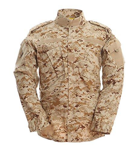 [TACVASEN Men Tactical Military Combat Assault Camo Paintball Airsoft Bdu Combat Uniform Coat Desert L] (Air Battle Uniform)