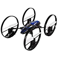 FILIWI Remote Control Quadcopter, 2.4G 4CH 6-Axis Gyro RC Quadcopter 4-in-1 Flying Car Remote Control Drone 360 Degree Roll Helicopter- Blue