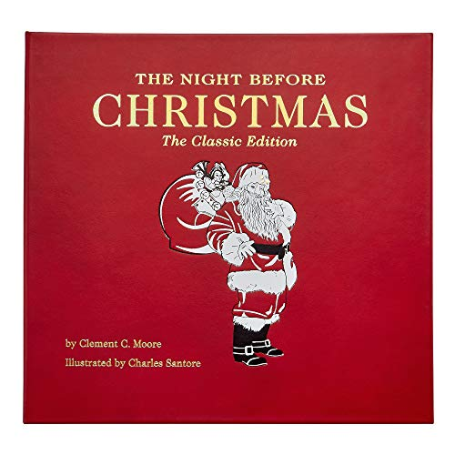 The Night Before Christmas Book, A Keepsake For Generations. Hand-Bound In Genuine Leather And Color Stamped In The US (B4 Night Christmas)