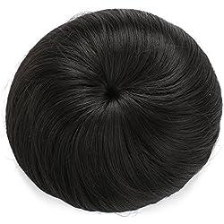 Onedor Synthetic Fiber Hair Extension Chignon Donut Bun Wig Hairpiece (2# - Darkest Brown)
