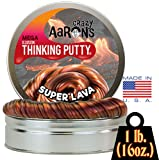 Crazy Aaron's Thinking Putty - Super Lava MEGA Tin - 1 LB Tin
