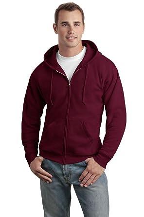 Hanes Men's Full-Zip EcoSmart Fleece Hoodie at Amazon Men's ...