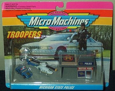 Michigan State Police Micro Machines Troopers Set #2