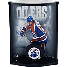 Wayne Gretzky Edmonton Oilers Autographed Logo Puck with Curved Display Case - Upper Deck - Fanatics Authentic Certified