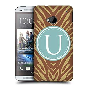 Head Case Designs Letter U Cases Protective Snap-on Hard Back Case Cover for HTC One by ruishername