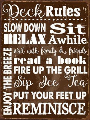 deck-rules-rules-metal-sign-motivational-rules-to-live-by-positive-thinking-modern-decor