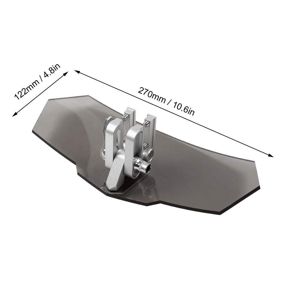 Universale Deflettore antivento per parabrezza regolabile per moto Qiilu Moto Parabrezza deflettori nero