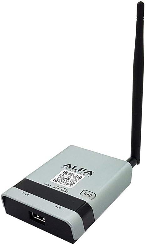 Alfa R36A 2.4GHz USB Wifi & 3G Router/Repetidor Con Wan / Lan Enchufes