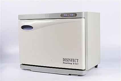 8L Toalla Más cálido, Inoxidable Acero Caliente Toalla UV Esterilizador Calentador Calentador Gabinete 2 en