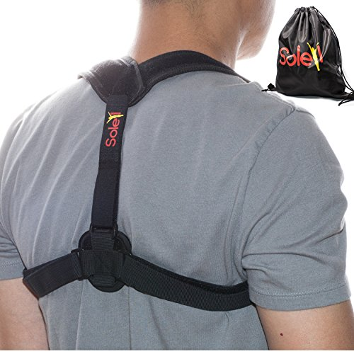 Posture Corrector - Upper Back Brace and Clavicle Support Brace Corrects Bad Posture, Slouching and Hunched Back - Improve Posture - Relieve Neck, Shoulder and Upper Back Strain By Soleil - Soleil Band De