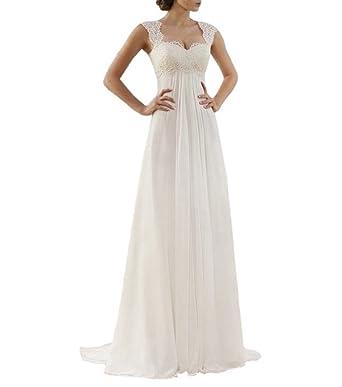 0fb1dd075 Special Bridal Elegant Beach Wedding Dresses Lace Chiffon Open Back Design  A Line Wedding Gown