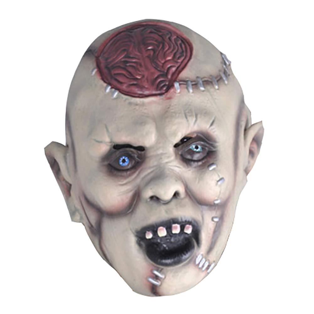 JINPAI Maschera di Halloween Bar Decorazione Puntelli Maschera per Il Cervello Horror