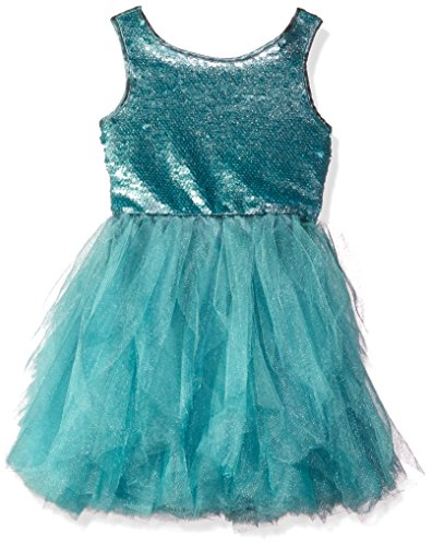 Biscotti Big Girls Grand Entrance Organza Dress with Sequinned Bodice, Aqua, 7 by Biscotti