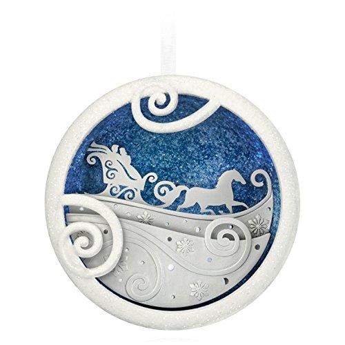 (Hallmark QGO1599 Moonlit Sleigh Ride Ornament)