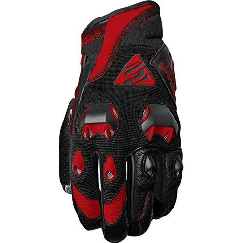 Five Stunt Evo Textile Adult Street Motorcycle Gloves - Black Red