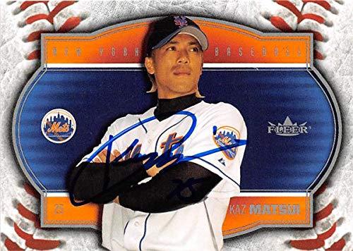 (Kaz Matsui autographed baseball card (New York Mets SC) 2004 Fleer #1 Special Edition)