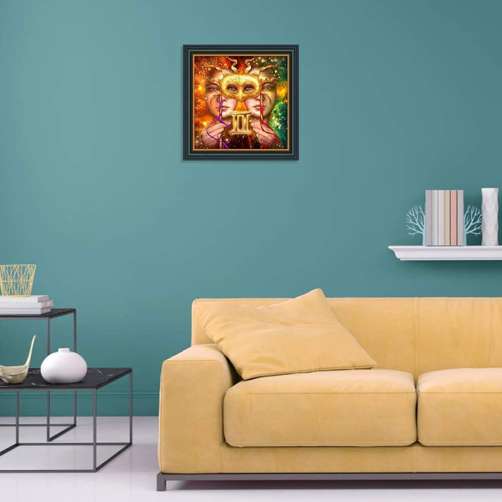 Broadroot 5D DIY Vollbohrer Diamant Malerei 12 Konstellation Kreuzstich Stickerei Mosaik Kit Wand Kunst Home Deko Leo