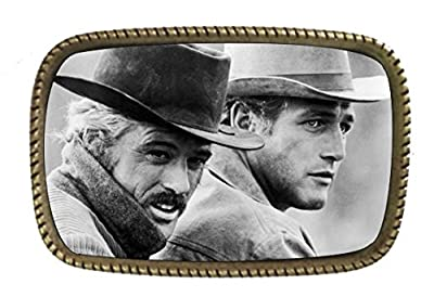 Butch Cassidy And The Sundance Kid Paul Newman Robert Redford Brass Belt Buckle Made In USA
