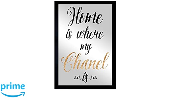 Amazon.com: Oliver Gal Chanel Is My Home | Framed Mirror Print for Wall Art Decor. the Typography Collection by Oliver Gal Décor, 16