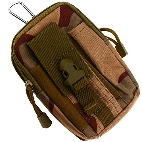 UPC 603097218657, Sminiker Tactical Gear Compact Molle Pouch Utility EMT Tactical Pouch With Carabiners Buckle (Desert camo)